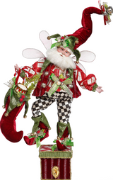 STOCK.SANTA FAIRY STOCK.HOLDER TT RD/BLK 48CM