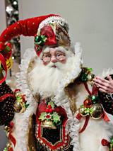 Mark Roberts 2021 Sleigh Bells Santa Doll GLD/RD 65CM