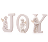 Joy Letter Christmas Cherub Display