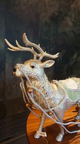Christmas Reindeer Sledge Table Display Set