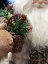 Christmas Santa Woodland Sledge Doll