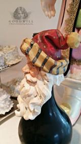 Santa Head Table Top Wine Bottle Display