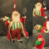 Vintage Santa Christmas Tree Decoration Display.