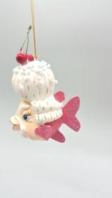 Mr Cherry Kissing Fish Tree Ornament