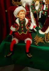 Katherine's Collection Christmas Elf Doll Display