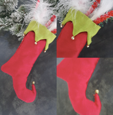 Christmas Elf Tree Stocking Display