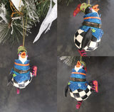 Penguin Christmas Tree Trinket Box Ornament