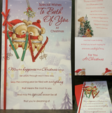 Large Christmas Card To The Both of You Foil Detail Full Colour Insert