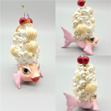 Kissing Fish Christmas Tree Decoration Display, Handmade & Hand Painted