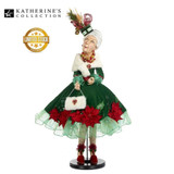Grandma Christmas Doll Display from Katherine's Collection Night Before Christmas 81cm H