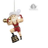Goodwill 2019 Circus Santa Christmas Tree Ornament.