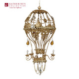 Wire Jewel Hot Air Balloon Chandelier Christmas Tree Ornament