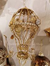 Wire Jewel Hot Air Balloon Chandelier Ornament