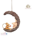 MOUSE ON PINE MOON ORN 11CM