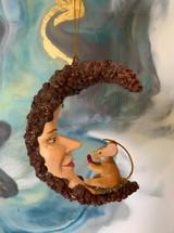 Goodwill Mice On Moon Tree Ornament