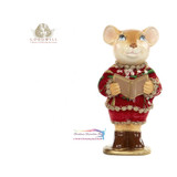 Mistletoe Santa Choir Mouse 15cm
