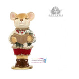 HOLLY CHOIR MOUSE 15CM