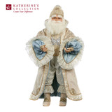 TREASURES SANTA DOLL GRN/CRM 61CM