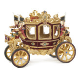 GIFTS OF CHRISTMAS CARRIAGE TT BURG/GLD 66CM