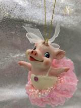 Goodwill Ballerina Piggy Tree Ornament