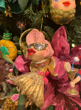 Christmas Tree Ornament Pool Side Diva Kissing Fish