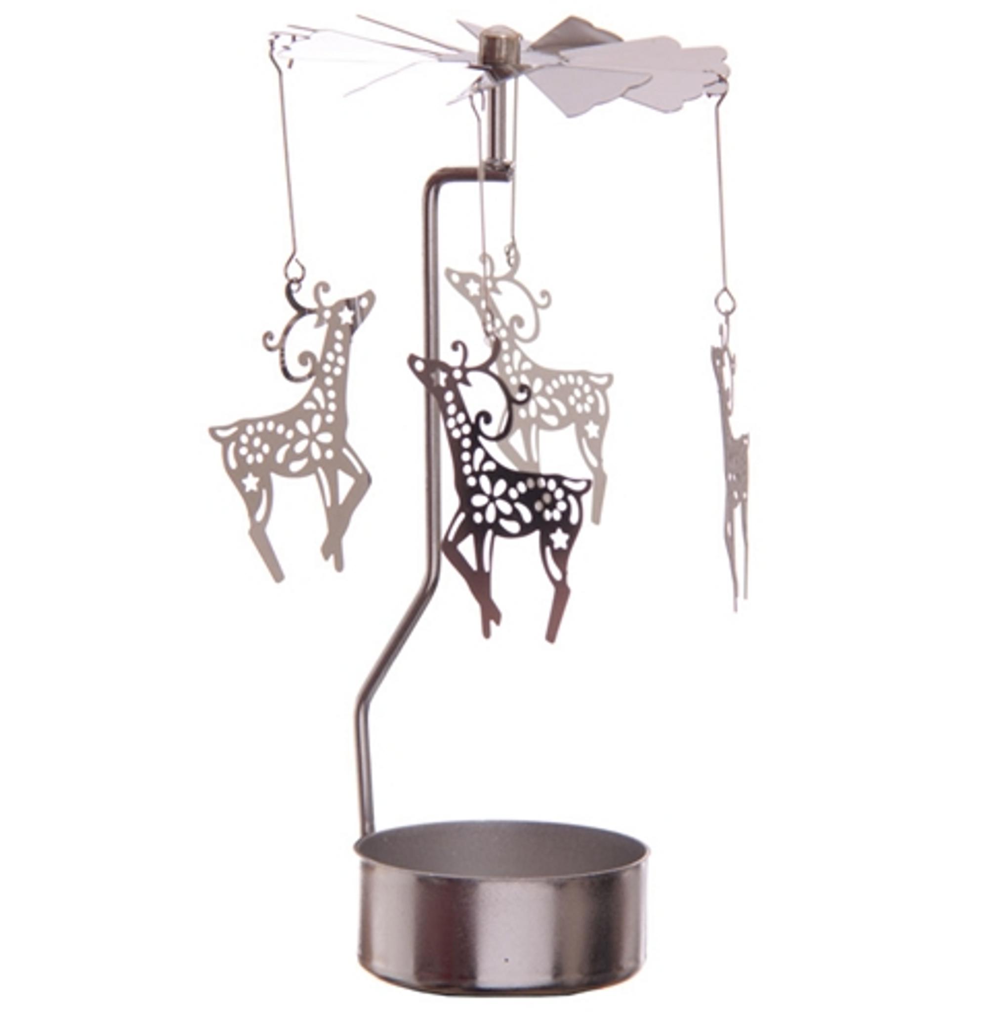 Reindeer Carousel Tea Light Christmas Decorations Online