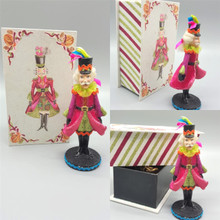 Katherine's Collection Nutcracker ornament & box display.