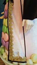 Christmas Macaroon Santa Doll Display