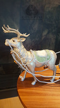 Christmas Reindeer Sledge Table Display Set