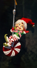 Katherine's Collection Lollipop Elf Decoration