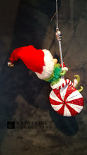 Christmas Tree Elf Decorations Display