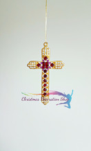 Bejewelled Cross Decoration