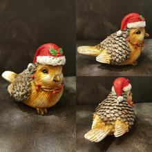 Christmas Robin Ornament Table Display