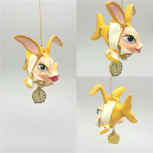 Alice In Wonderland Kissing Fish Christmas Tree Decoration