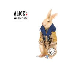 Rabbit Holding Clock