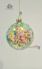 Pink Ribbon Large Christmas Glass Bauble