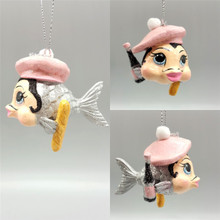 Kissing Fish Christmas Tree Decoration Mr Monsieur Baguette