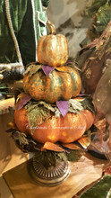 Katherine's Collection 2019 Pumpkin Stack In Pot Display