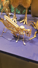 Jewel Grasshopper Clip Display Ornament