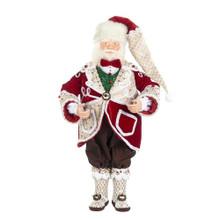 Sweet Xmas Santa Doll RD/BRWN 66CM