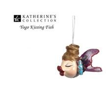 Katherine's Collection Yoga Kissing Fish Tree Decoration Size 9cm