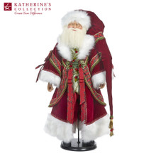 Katherine's Collection 2019 Christmas Wishes Santa Doll Display