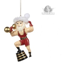 Goodwill 2019 Circus Santa Christmas Tree Ornament.