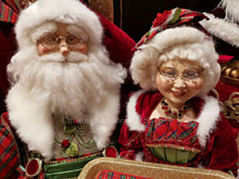 Katherine's Collection 2019 Mr & Mrs Claus With Tray