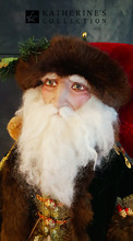 Katherine's Collection Old World  Santa Doll