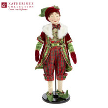 CHRISTMAS ELF DOLL RD/GRN 61CM
