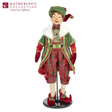 CHRISTMAS ELF DOLL RD/GRN 61CM