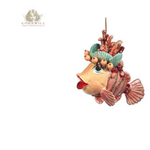 CORAL CLOWN FISH ORN PINK 11,5CM