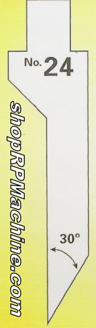 RD02344 Roto Die #24 Upper Knife Die - Hemming Die 12'