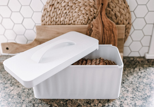 3D Printed Bread Box, using recycled plastic from PVC windows